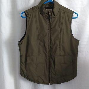 2/$13 St John's Bay Olive Green Jacket Vest